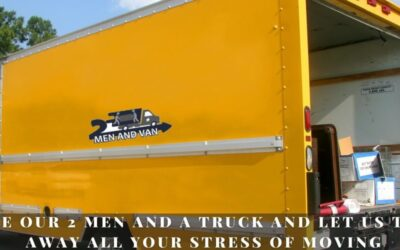 Hire our 2 men and a truck and let us take away all your stress of moving